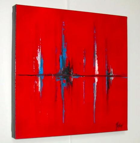 REFLETS ROUGES         (40X40)