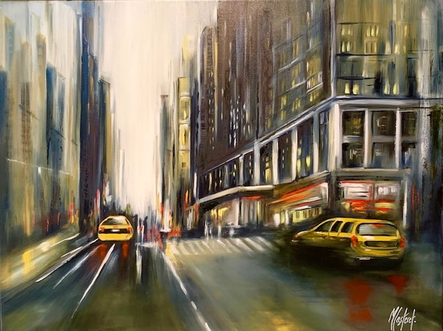 RUE NEW YORKAISE  (80 X 60)